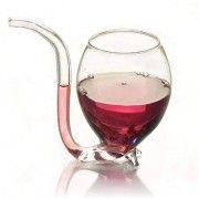 Γυάλινο Ποτήρι με Ενσωματωμένο Σωλήνα