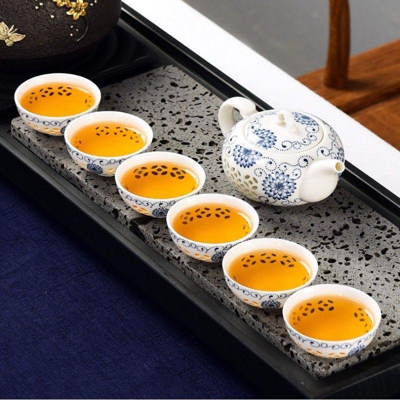 Πορσελάνινη τσαγιέρα και 6 κούπες Ying Hua